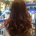 Client from Portsmouth for a long curly blow dry